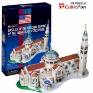 (7595) Basilica of the National Shrine of the Immaculate Conception - 3D Puzzle - 44 peças