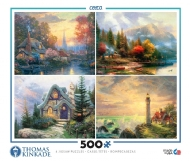 [8726] Kinkade Collection 4 in 1 - 4x 500 peças