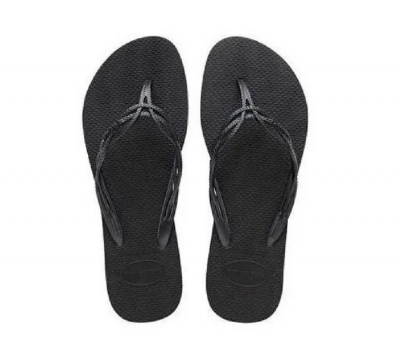havaianas chinelo sandalia flash sweet preta - 37/38