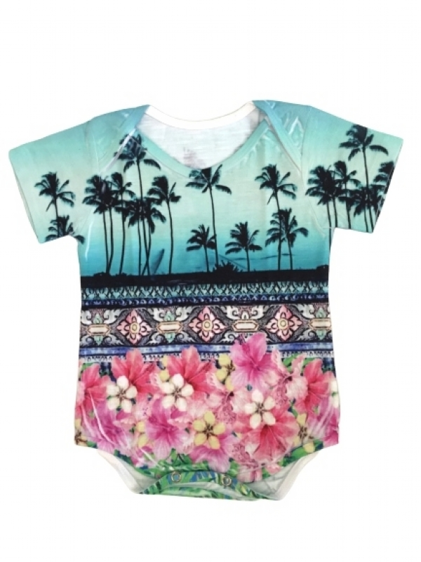 Body Baby Coqueiro Tropical