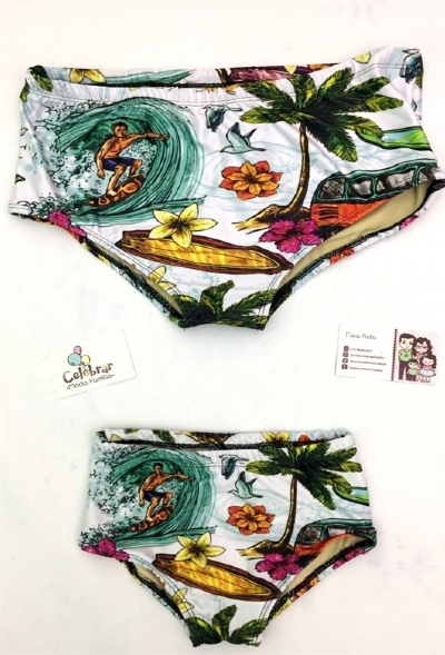 Moda Praia Surf Sunga Adulto