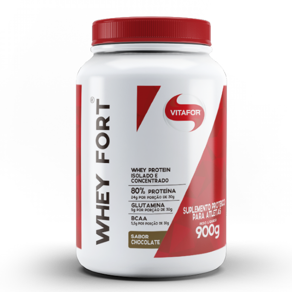WHEY FORT 900g SABOR CHOCOLATE