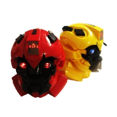 Caixa De Som Transformers Radio Usb Pen Drive Mp3 Sd Aux Luz