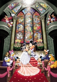 [8199] Mickey and Minnie Marriage - 1000 peças Esp*