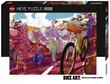 [5324] Bike Art, Tour in Pink - 1000 pcs IMG-42756