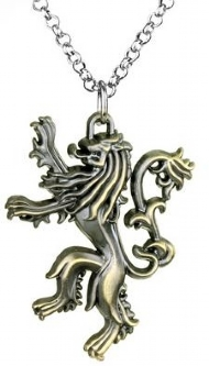 [7233] Colar Game of Thrones - Casa Lannister Bronze