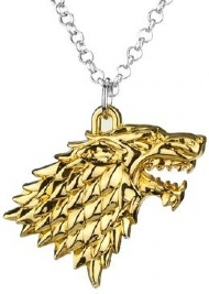 [7231] Colar Game of Thrones - Stark Gold