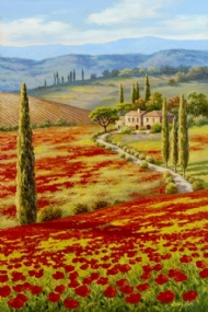 (7064) Red Poppy Field - 1000 pcs