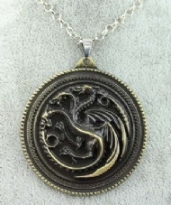 [6908] Colar Game of Thrones - Ancient Targaryen Bronze