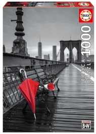 [9002] Red Umbrella, Brooklyn bridge - 1000 peças