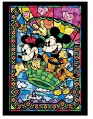 [9083] Pintura com Strass - Mickey and Minnie - 20x25 cm - full