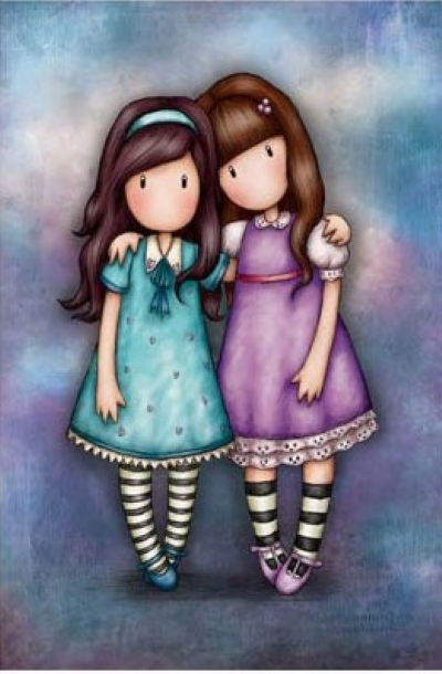 [9179] Pintura com Strass - Girls - 15x20 cm - full