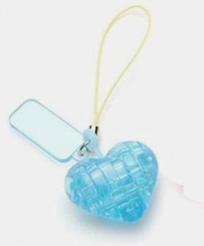 [9205] Mini Crystal Puzzle - Heart Blue